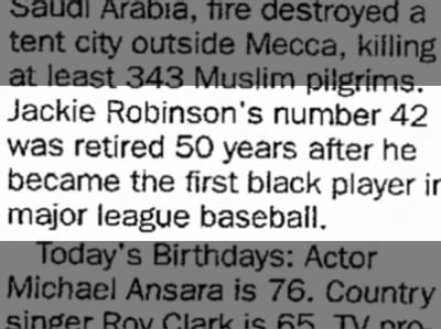 Jackie Robinson's Number Retired