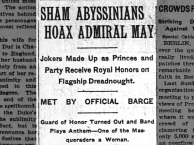 Sham Abyssinians Hoax Admiral May