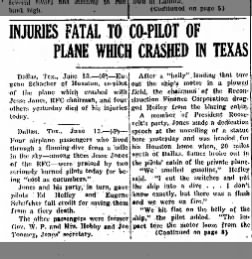 Eugene Schacherer and Ed Hefley plane crash part 1