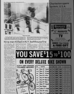May 26, 1977, AP - The Mercury, Pottstown, PA, page 46, Nine men Killed in N.Y. bathhouse fire,