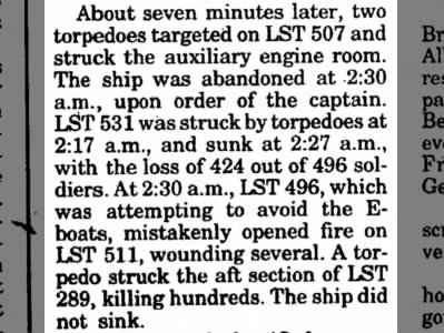 Details of the Exercise Tiger attack