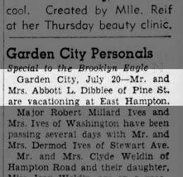Abbott and Gwendolyn vacation at East Hampton - Mon. 20 Jul 1942