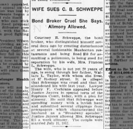 CBS divorce #1 Brooklyn Daily Eagle (Brooklyn NY) Feb 9 1915 Tues