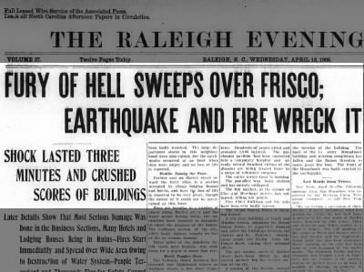 Fury of Hell, 1906