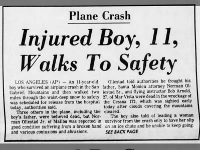 11-year-old boy walks to safety
