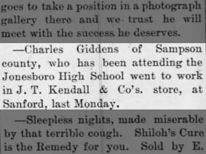 Charles Giddens attended Jonesboro High School
