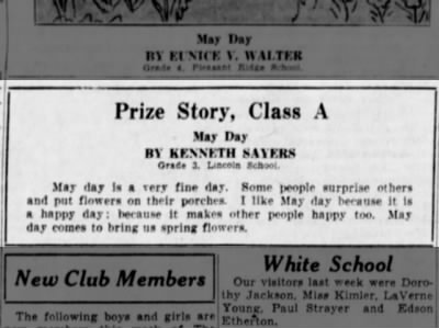 May Day Story, Kenneth Sayers, 1934