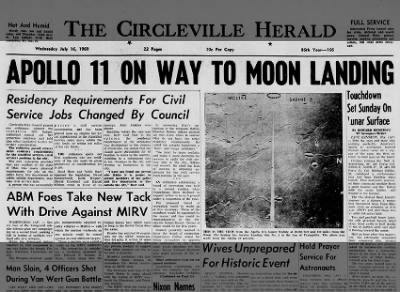 1969 - Apollo 11 lifts off for first manned trip to the moon