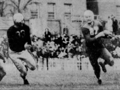 1940 Nebraska-Iowa football photo, Luther