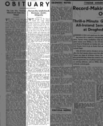 Isabella Farrell Obituary Sept 6, 1947