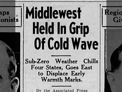 Midwest cold snap.