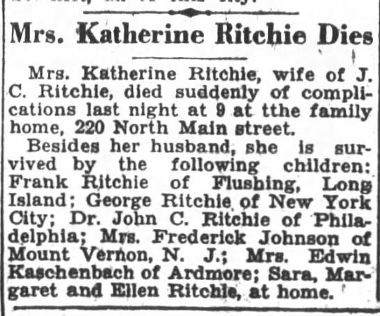 Katherine McHugh 1929