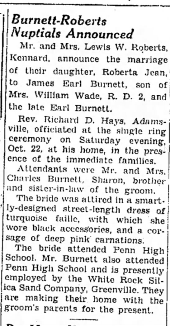 Earl Burnett's son's wedding