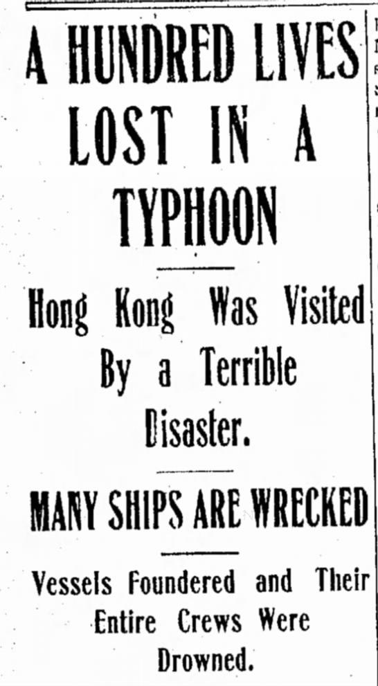 Typhoon Hits Hong Kong