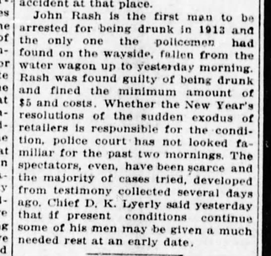 First Arrest After Prohibition