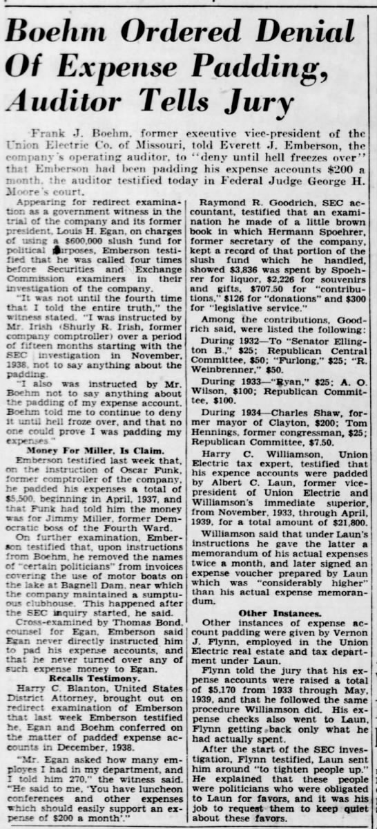 The St Louis Sta and TImes 26 Jan 1942 p.p Everett J Emberson