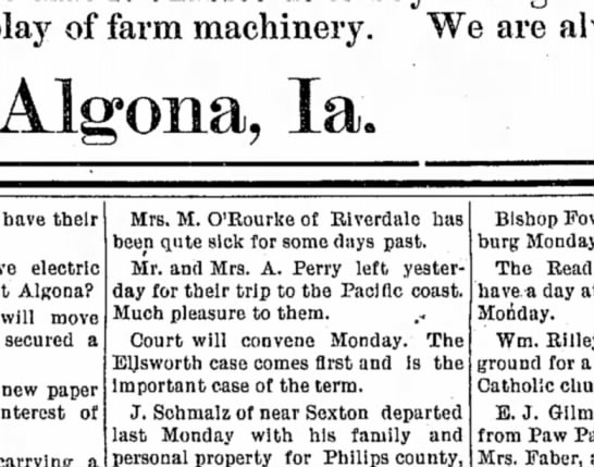 6 mar 1896 algona courier