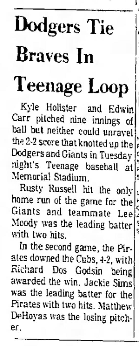 Pony League / May 31, 1972