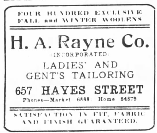 Rayne Tailoring Co