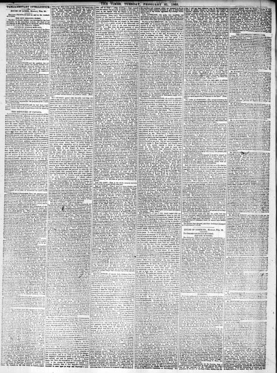 Defences of Canada, 21 Feb 1865