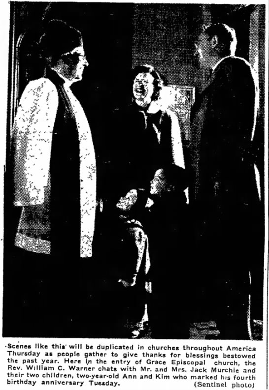 Jack, Jeanne, Kim & Ann Murchie 26 Nov 1952 Wed pg 1