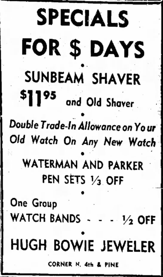 Sunbeam Shaver Ad