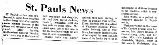 Ernest McNeill The Robesonian (Lumberton, North Carolina) Feb. 23, 1975 Sun. pg. 17
