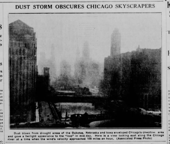 """""""Dust Storm Obscures Chicago Skyscrapers"""""""