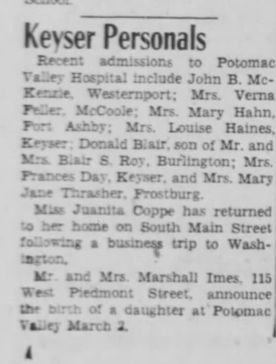 Times News-- 8 March 1950