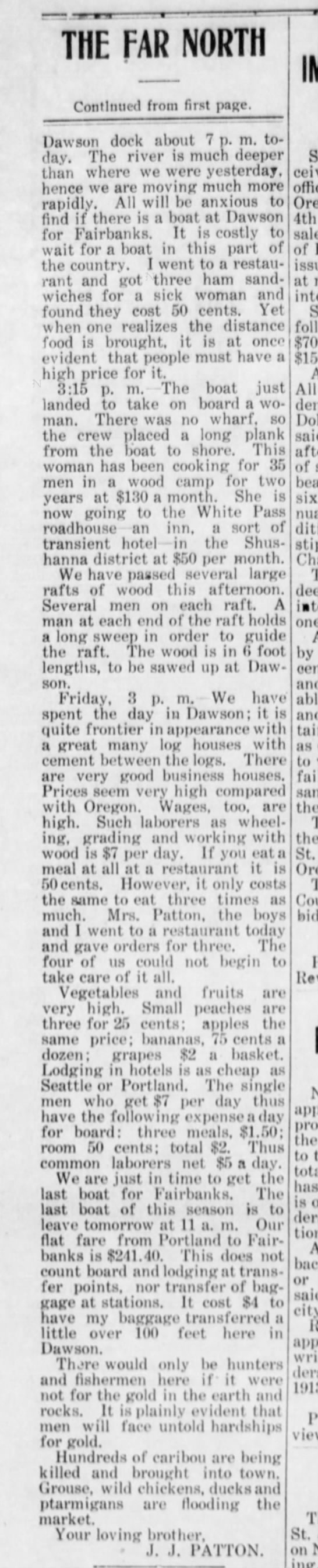St Johns Review, Portland, OR 24 Oct 1913 page 4 Second part of Rev Patton tells about trip