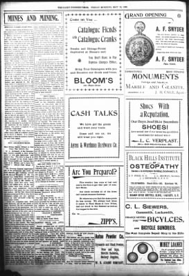 The Daily Deadwood Pioneer-Times from Deadwood, South Dakota on May 12, 1899 · Page 4