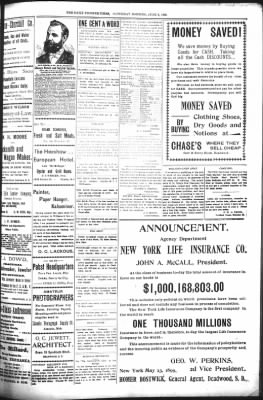 The Daily Deadwood Pioneer-Times from Deadwood, South Dakota on June 3, 1899 · Page 3