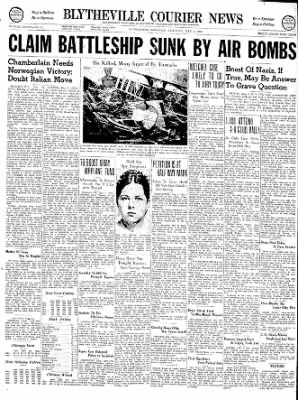 The Courier News from Blytheville, Arkansas on May 4, 1940 · Page 1