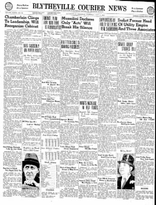 The Courier News from Blytheville, Arkansas on May 9, 1940 · Page 1