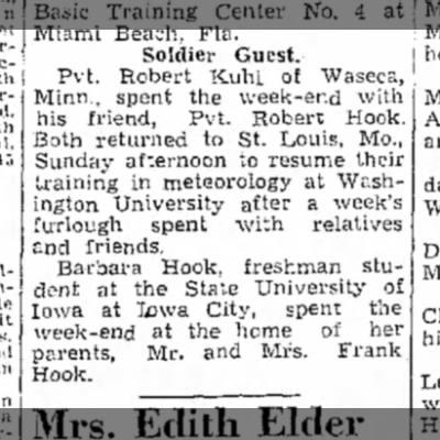 1943 Wapello The Nuscatine News-Tribune 9.22.1943