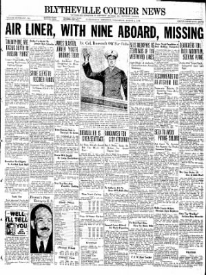 The Courier News from Blytheville, Arkansas on March 2, 1938 · Page 1