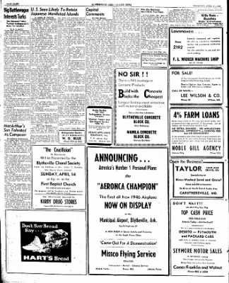 The Courier News from Blytheville, Arkansas on April 11, 1946 · Page 8
