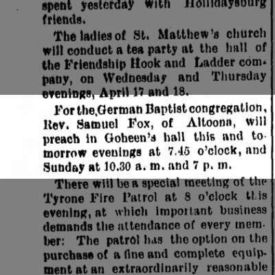 goheens hall 5 april 1895