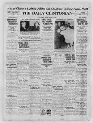 The Daily Clintonian from Clinton, Indiana on December 3, 1936 · Page 1
