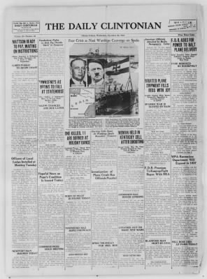 The Daily Clintonian from Clinton, Indiana on December 30, 1936 · Page 1