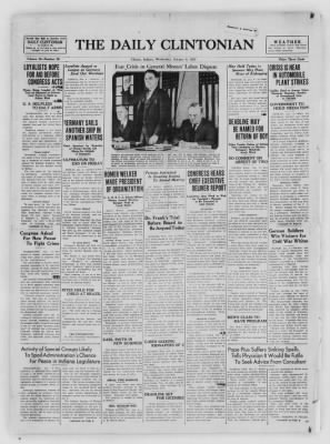 The Daily Clintonian from Clinton, Indiana on January 6, 1937 · Page 1