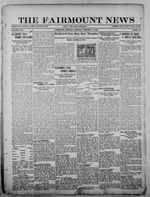 The Fairmount News from Fairmount, Indiana on January 9, 1922 · Page 1