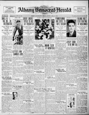 Albany Democrat-Herald from Albany, Oregon on April 27, 1936 · Page 1