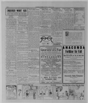 The Bremen Enquirer from Bremen, Indiana on August 28, 1924 · Page 8