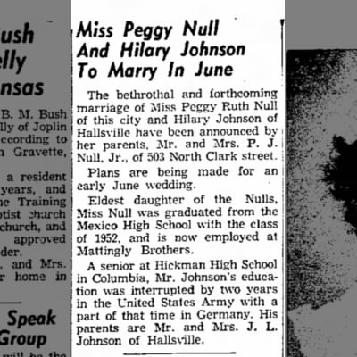 Peggy Null and Hilary Johnson