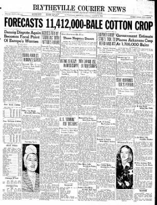 The Courier News from Blytheville, Arkansas on August 8, 1939 · Page 1