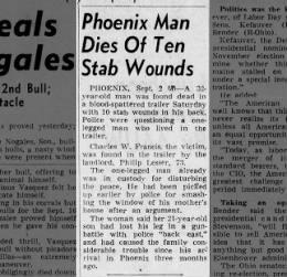 Charles W. Francis murder B