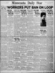 First issue of the Minnesota Daily Star, 19 Aug 1920