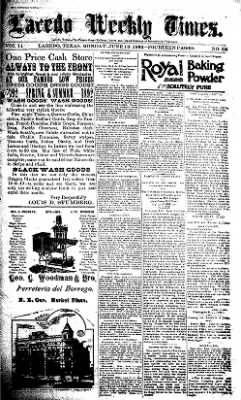 The Laredo Times from Laredo, Texas on June 13, 1892 · Page 1