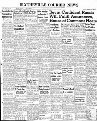 The Courier News from Blytheville, Arkansas on March 14, 1946 · Page 1